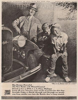 ORIG VINTAGE MAGAZINE AD/ 1932 BUICK CAR ADillustrator- Edwin   Henry - Product Image