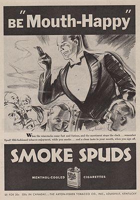 ORIG VINTAGE MAGAZINE AD/ 1932 SPUD CIGARETTES ADillustrator- N/A - Product Image