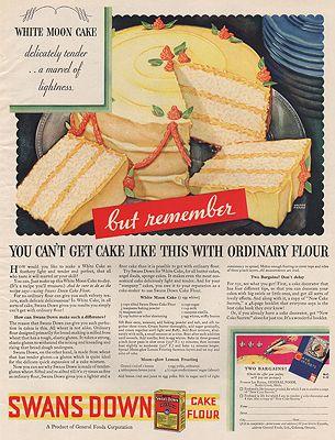 ORIG VINTAGE MAGAZINE AD/ 1932 SWANS DOWN CAKE FLOUR ADillustrator- Walter  Frame - Product Image