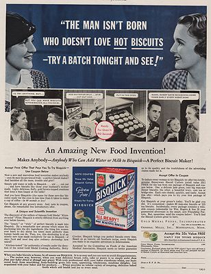ORIG VINTAGE MAGAZINE AD/ 1933 BISQUICK AD illustrator- N/A - Product Image