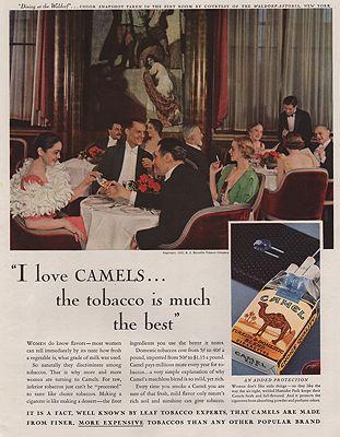 ORIG VINTAGE MAGAZINE AD/ 1933 CAMEL CIGARETTE ADillustrator- N/A - Product Image