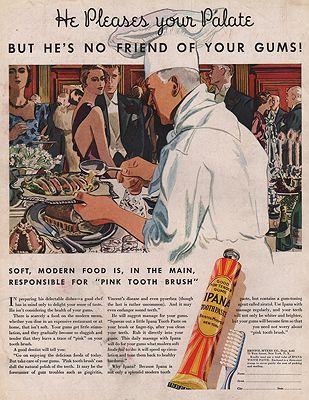 ORIG VINTAGE MAGAZINE AD/ 1933 IPANA TOOTHPASTE ADillustrator- Leslie  Saalburg - Product Image