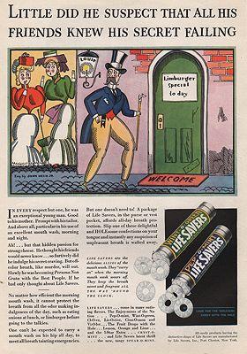 ORIG VINTAGE MAGAZINE AD/ 1933 LIFE SAVERS CANDY ADillustrator- John  Held, Jr. - Product Image