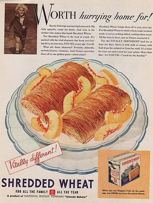 ORIG VINTAGE MAGAZINE AD/ 1933 SHREDDED WHEAT ADillustrator- N/A - Product Image