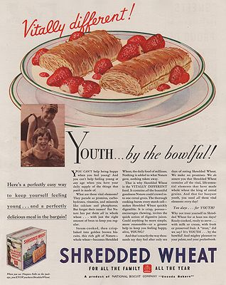 ORIG VINTAGE MAGAZINE AD/ 1933 SHREDDED WHEAT CEREAL ADillustrator- N/A - Product Image