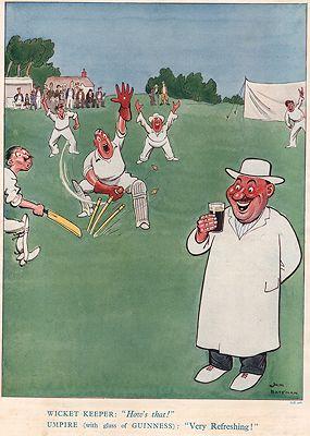 ORIG VINTAGE MAGAZINE AD/ 1934 GUINNESS ALE ADillustrator- Jim  Bateman - Product Image