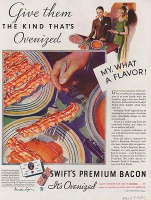 ORIG. VINTAGE MAGAZINE AD: 1934 SWIFT'S PREMIUM BACON ADillustrator- N/A - Product Image