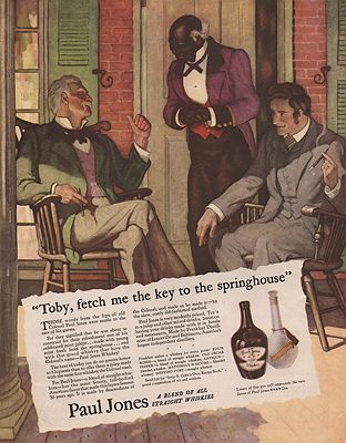 ORIG VINTAGE MAGAZINE AD/ 1935 PAUL JONES WHISKEY ADillustrator- N.C.  Wyeth - Product Image