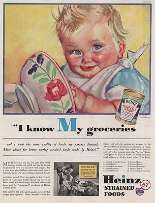 ORIG VINTAGE MAGAZINE AD/ 1936 HEINZ BABY FOOD ADillustrator- Maud Tousey  Fangel - Product Image