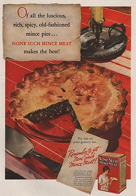 ORIG VINTAGE MAGAZINE AD/ 1936 NONE SUCH MINCE MEATillustrator- N/A - Product Image