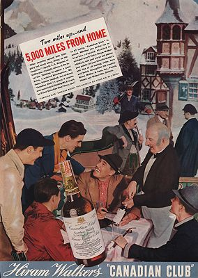 ORIG VINTAGE MAGAZINE AD/ 1937 CANADIAN CLUB WHISKEY ADillustrator- N/A - Product Image