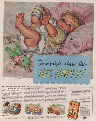 ORIG VINTAGE MAGAZINE AD/ 1937 CREAM OF WHEAT CEREAL ADillustrator- Maud Tousey  Fangel - Product Image