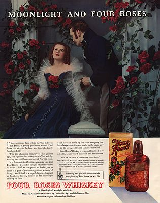 ORIG VINTAGE MAGAZINE AD/ 1937 FOUR ROSES WHISKEY AD illustrator- N/A - Product Image