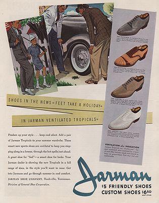 ORIG VINTAGE MAGAZINE AD/ 1937 JARMAN SHOE ADillustrator- N/A - Product Image