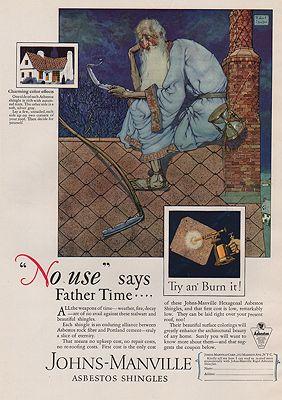 ORIG VINTAGE MAGAZINE AD/ 1937 JOHNS-MANVILLE SHINGLE ADillustrator- Robert  Lawson - Product Image