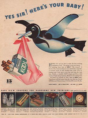 ORIG VINTAGE MAGAZINE AD/ 1937 KOOL CIGARETTES ADillustrator- N/A - Product Image