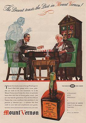 ORIG VINTAGE MAGAZINE AD/ 1937 MOUNT VERNON WHISKEY ADillustrator- N/A - Product Image