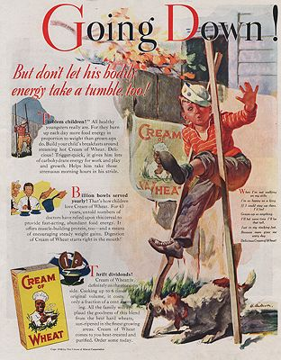 ORIG VINTAGE MAGAZINE AD/ 1938 CREAM OF WHEAT CEREAL ADillustrator- Harold  Anderson - Product Image