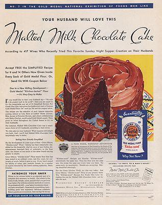 ORIG VINTAGE MAGAZINE AD/ 1938 GOLD MEDAL FLOUR ADillustrator- N/A - Product Image