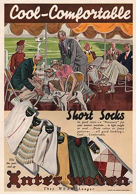 ORIG VINTAGE MAGAZINE AD/ 1938 INTERWOVEN SOCKS ADFellows (Illust.), Laurence, Illust. by: Laurence  Fellows - Product Image