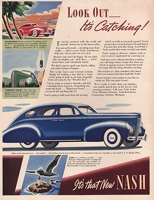 ORIG VINTAGE MAGAZINE AD/ 1938 NASH CAR ADillustrator- N/A - Product Image