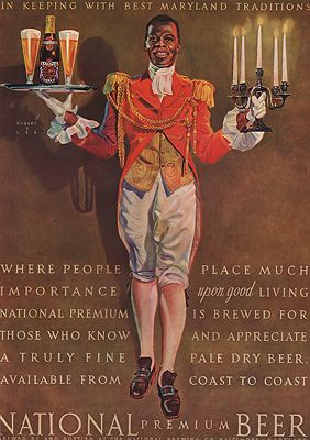 ORIG. VINTAGE MAGAZINE AD: 1938 NATIONAL BEER ADillustrator- Robert  Lee - Product Image