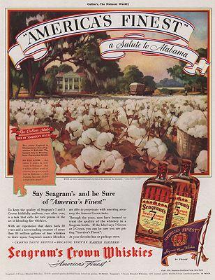 ORIG VINTAGE MAGAZINE AD/ 1938 SEAGRAMS WHISKEY ADillustrator- N/A - Product Image