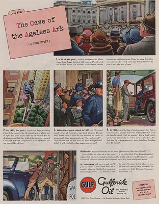 ORIG VINTAGE MAGAZINE AD/ 1939 GULFPRIDE OIL ADillustrator- James  Williamson - Product Image