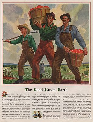 ORIG VINTAGE MAGAZINE AD/ 1939 H.J. HEINZ CO. ADillustrator- Peter  Helck - Product Image