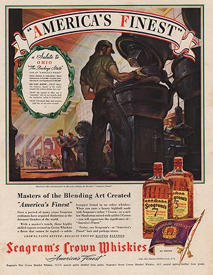 ORIG VINTAGE MAGAZINE AD/ 1939 SEAGRAM'S WHISKEY ADillustrator- N/A - Product Image
