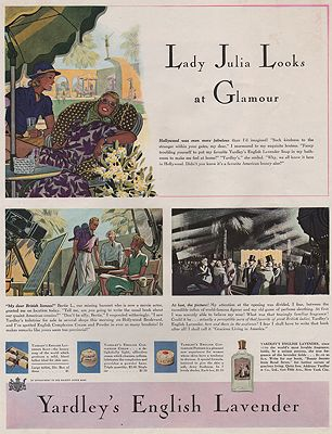 ORIG VINTAGE MAGAZINE AD/ 1939 YARDLEY'S ENGLISH LAVENDER ADillustrator- James  Williamson - Product Image