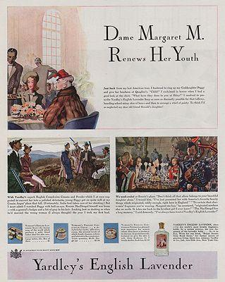 ORIG VINTAGE MAGAZINE AD/ 1939 YARDLEY'S ENGLISH LAVENDER ADillustrator- Leslie  Saalburg - Product Image