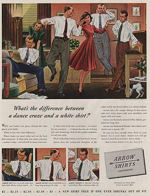 ORIG VINTAGE MAGAZINE AD/ 1940 ARROW SHIRT ADillustrator- James  Williamson - Product Image