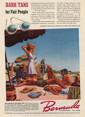 ORIG VINTAGE MAGAZINE AD/ 1940 BERMUDA TOURISM ADillustrator- James  Williamson - Product Image