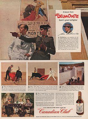 ORIG VINTAGE MAGAZINE AD/ 1940 CANADIAN CLUB WHISKEY ADillustrator- N/A - Product Image