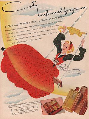 ORIG VINTAGE MAGAZINE AD/ 1940 COTY PERFUME ADillustrator- N/A - Product Image