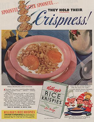 ORIG VINTAGE MAGAZINE AD/ 1940 KELLOGG'S RICE KRISPIES ADillustrator- N/A - Product Image