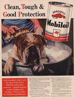 ORIG VINTAGE MAGAZINE AD/ 1940 MOBILOIL ADillustrator- N/A - Product Image
