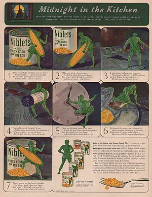 ORIG VINTAGE MAGAZINE AD/ 1940 NIBLETS CANNED CORN ADillustrator- N/A - Product Image