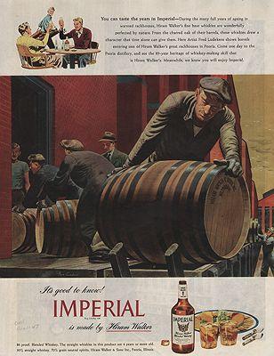 ORIG VINTAGE MAGAZINE AD/ 1941 IMPERIAL WHISKEY ADillustrator- Fred  Ludekens - Product Image