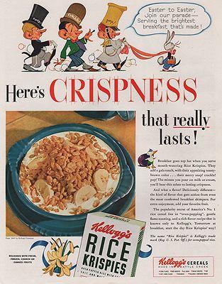 ORIG VINTAGE MAGAZINE AD/ 1941 KELLOGG'S RICE KRISPIES ADillustrator- N/A - Product Image