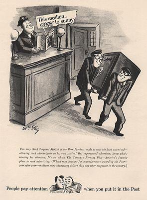 ORIG VINTAGE MAGAZINE AD/ 1941 SATURDAY EVENING POST ADillustrator- Willian  Steig - Product Image