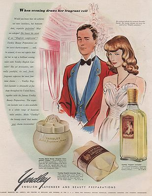 ORIG VINTAGE MAGAZINE AD/ 1941 YARDLEY LAVENDAR ADillustrator- James  Williamson - Product Image