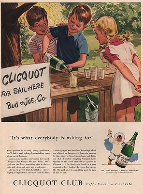 ORIG VINTAGE MAGAZINE AD/ 1942 CLICQUOT CLUB GINGER ALE ADillustrator- N/A - Product Image