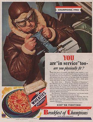 ORIG VINTAGE MAGAZINE AD/ 1942 WHEATIES CEREAL ADillustrator- N/A - Product Image