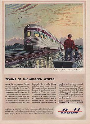 ORIG VINTAGE MAGAZINE AD/ 1943 BUDD MANUFACTURING ADillustrator- Leslie   Saalburg - Product Image