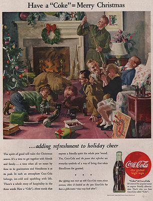 ORIG VINTAGE MAGAZINE AD/ 1944 COCA COLA ADillustrator- Haddon  Sundblom - Product Image