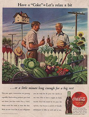 ORIG VINTAGE MAGAZINE AD/ 1944 COCA-COLA ADillustrator- Stevan  Dohanos - Product Image