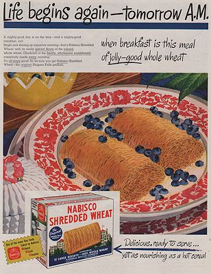 ORIG VINTAGE MAGAZINE AD/ 1946 NABISCO SHREDDED WHEAT ADillustrator- N/A - Product Image