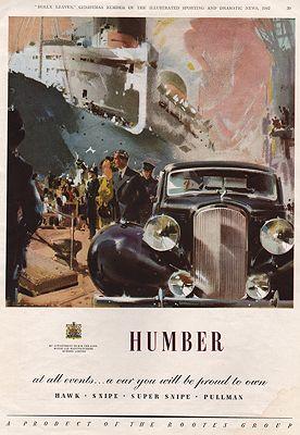 ORIG VINTAGE MAGAZINE AD/ 1947 HUMBER CAR ADillustrator- N/A - Product Image